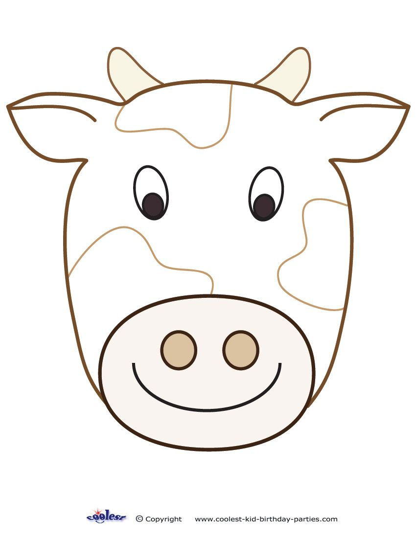 Large Printable Cow Decoration - Coolest Free Printables | Cow - Giraffe Mask Template Printable Free