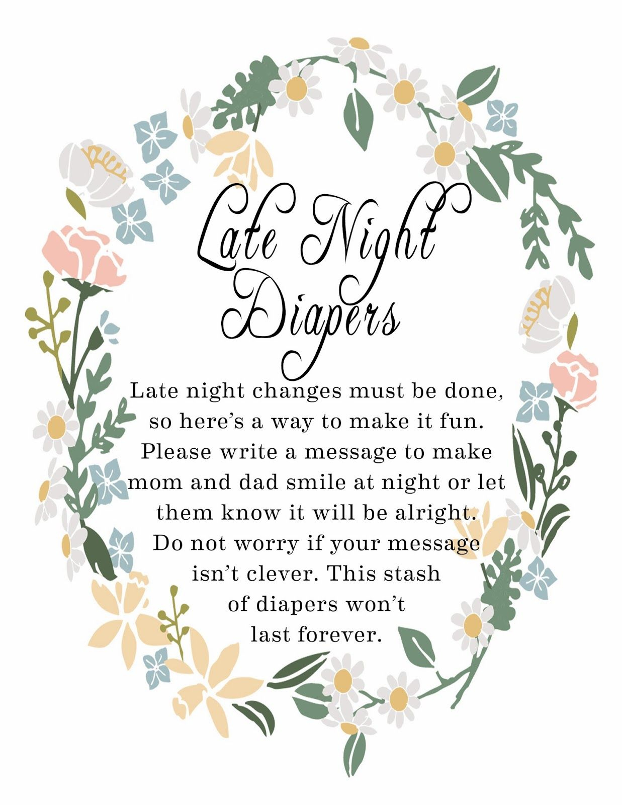 Late Night Diaper Signage | Baby Shower For Baby Miles! | Pinterest - Late Night Diaper Sign Free Printable