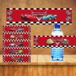 Learn All About Cars Water | Label Maker Ideas Information   Free Printable Disney Cars Water Bottle Labels