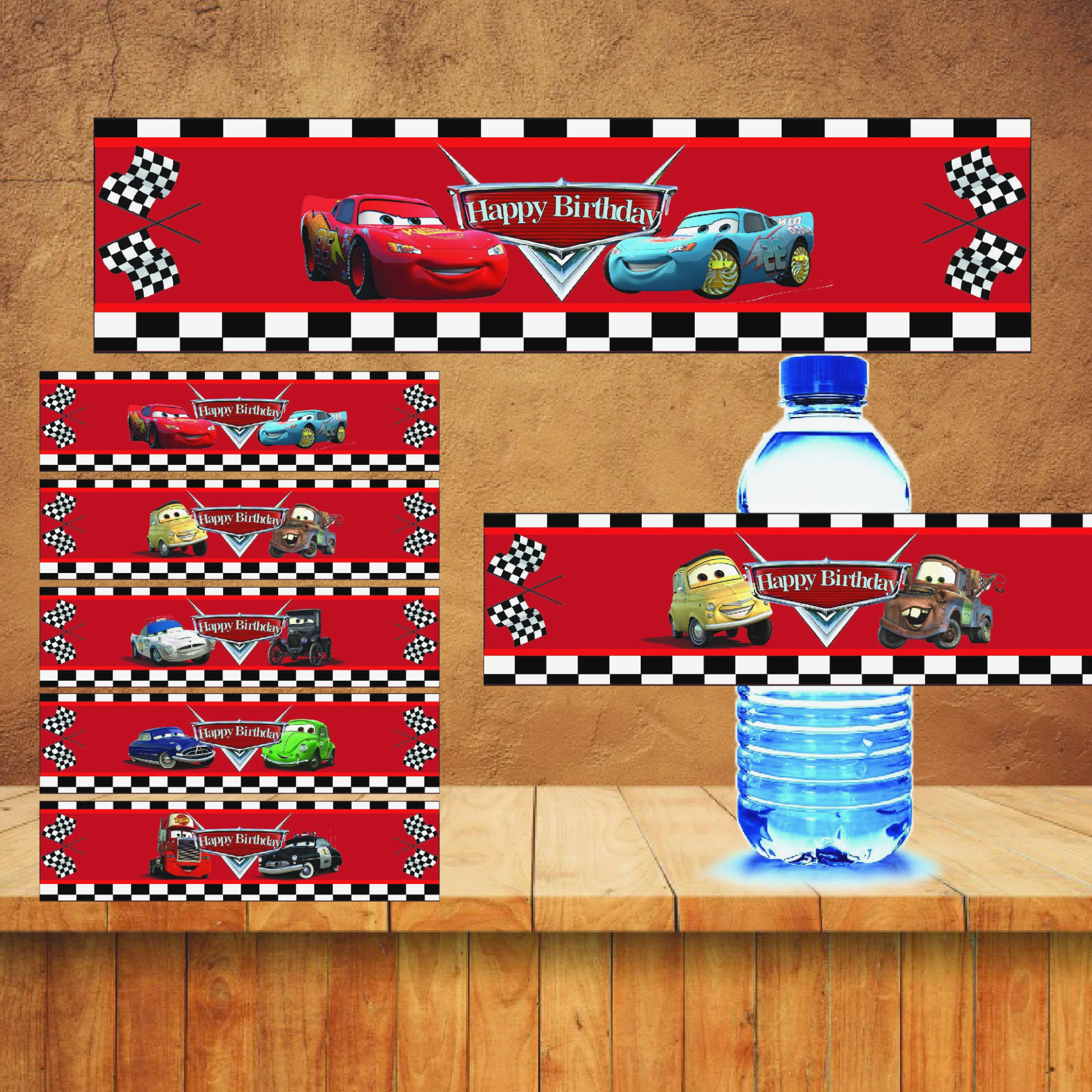 Learn All About Cars Water | Label Maker Ideas Information - Free Printable Disney Cars Water Bottle Labels