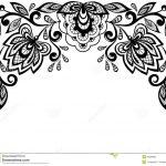 Leaves Clip Art Black And White Border   Clipart Panda   Free   Free Printable Lace Stencil