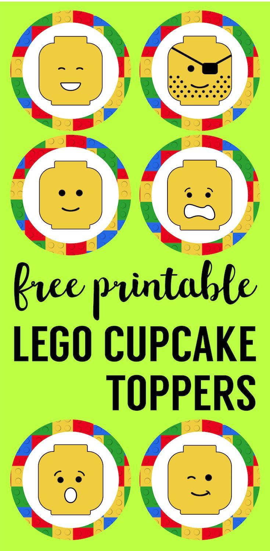 Lego Cupcake Toppers Printable   Future Classroom   Pinterest   Lego - Free Printable Lego Cupcake Toppers