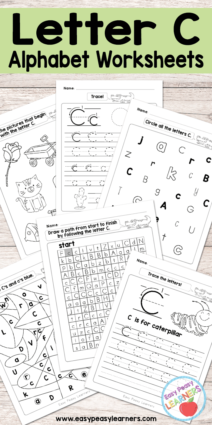 Letter C Worksheets - Alphabet Series - Easy Peasy Learners - Free Printable Letter C Worksheets