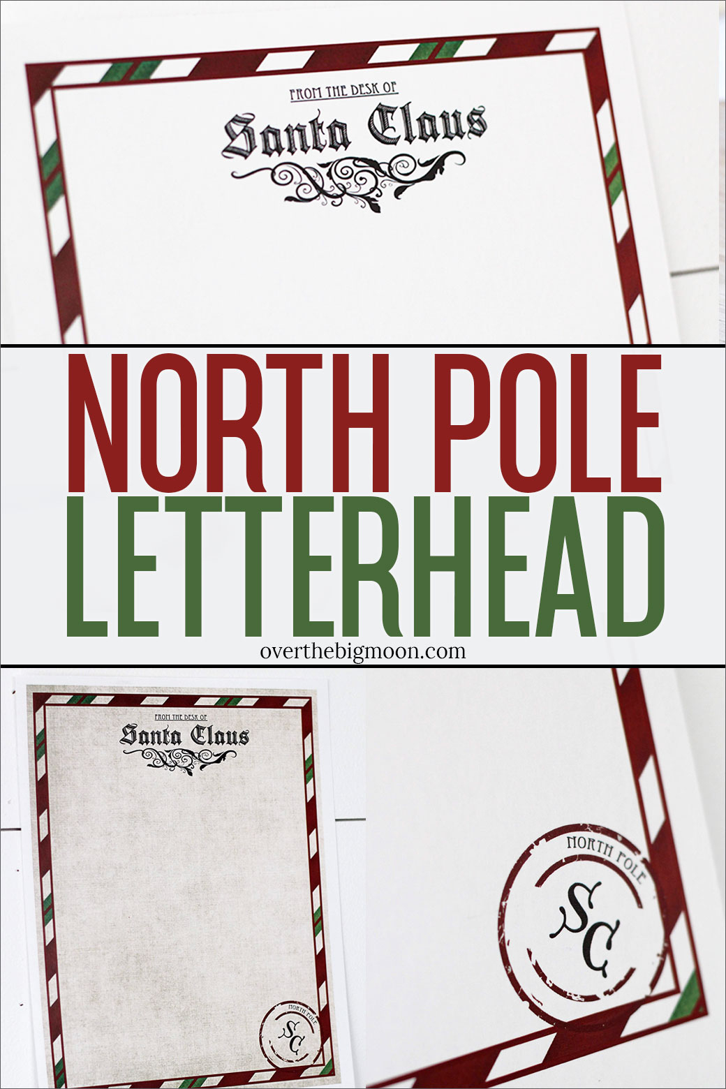 Letter From Santa Printable - North Pole Stationary Printable Free