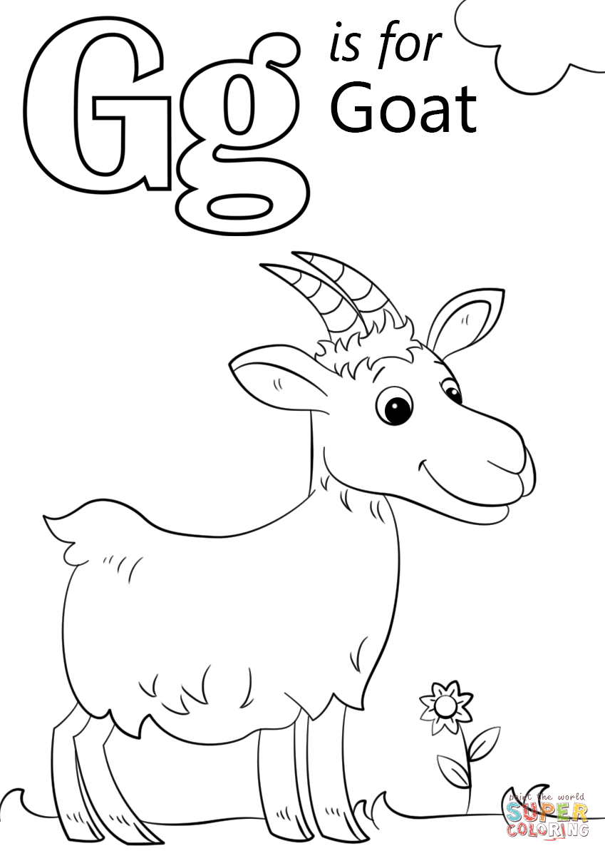 Letter G Is For Goat Coloring Page | Free Printable Coloring Pages - Free Printable Letter G Coloring Pages