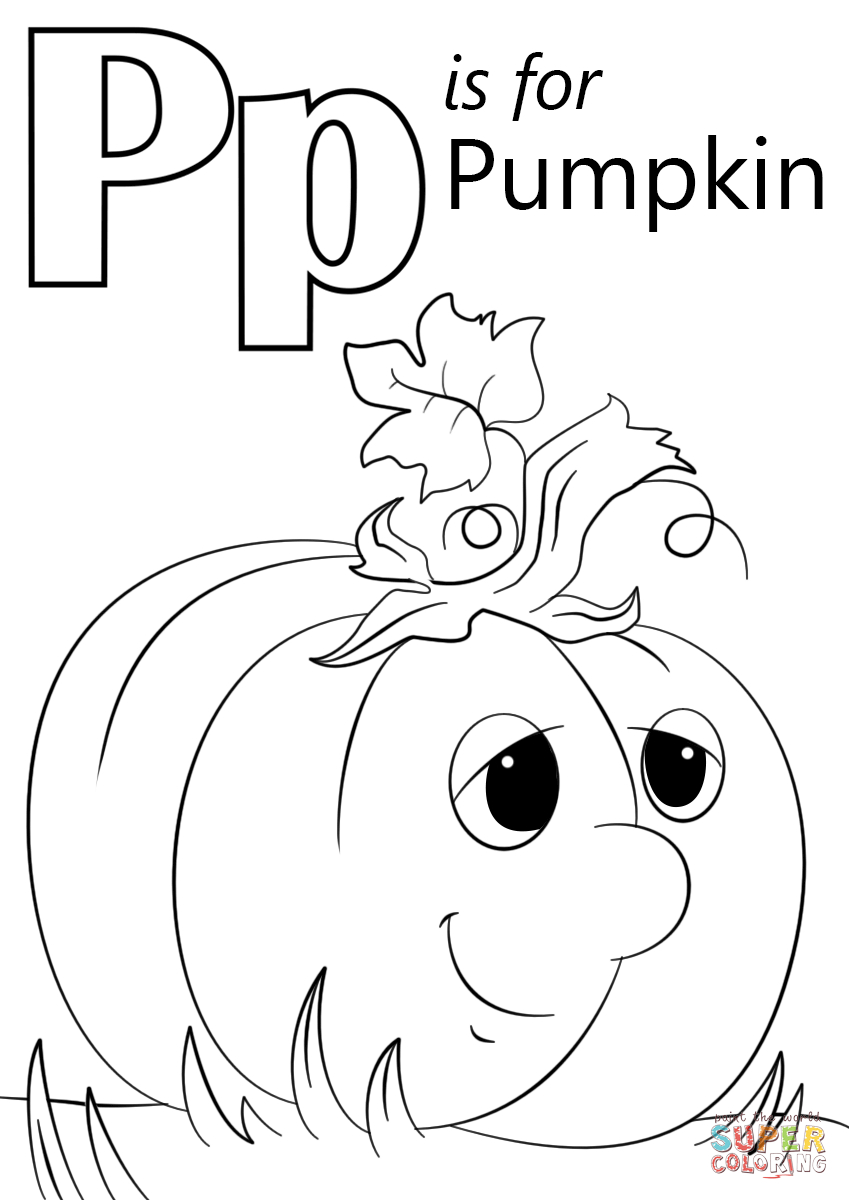 Letter P Is For Pumpkin Coloring Page   Free Printable Coloring Pages - Free Printable Pumpkin Coloring Pages