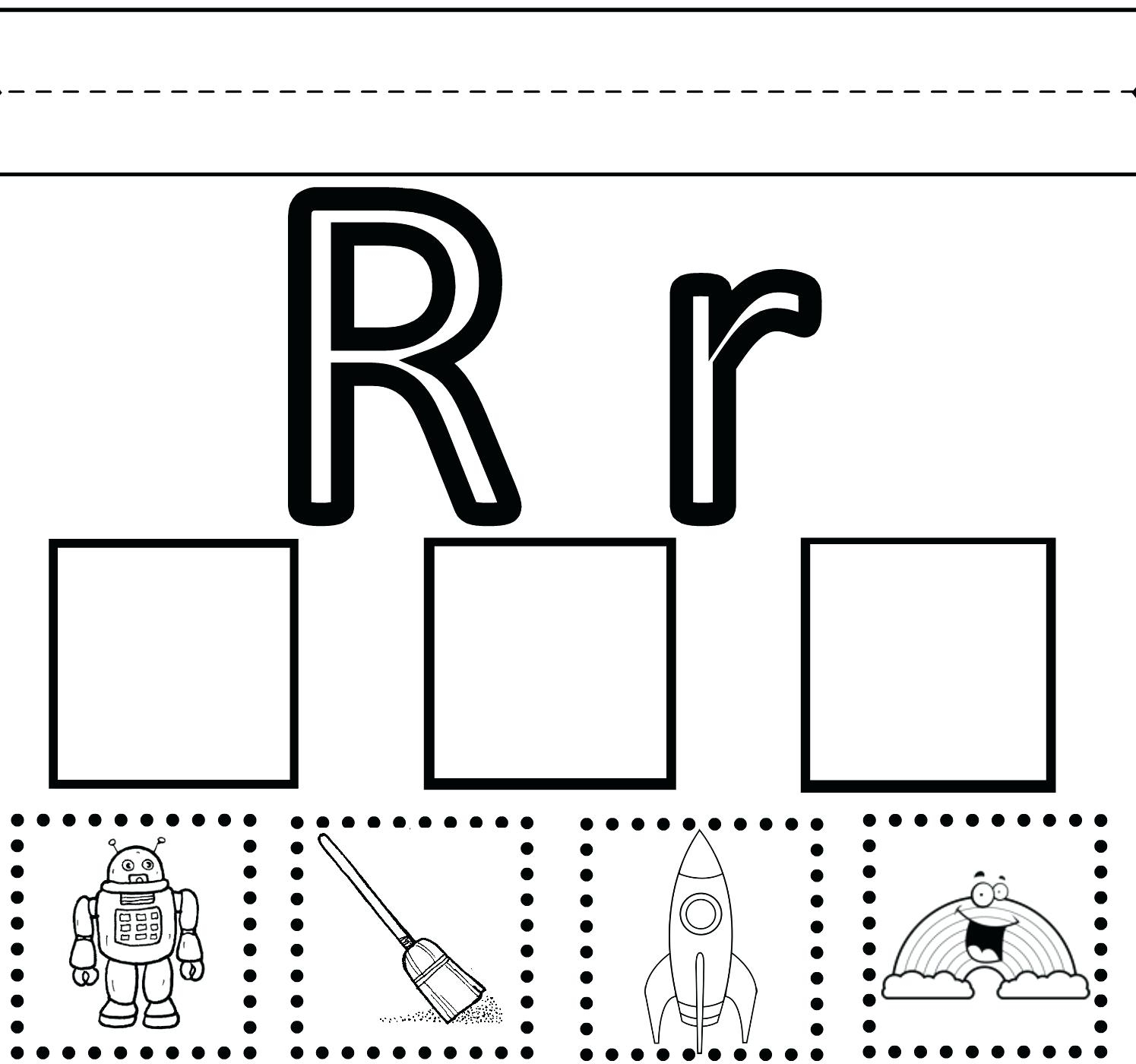 Letter R Worksheet For Kindergarten Letter R Worksheets Kindergarten - Free Printable Preschool Worksheets For The Letter R