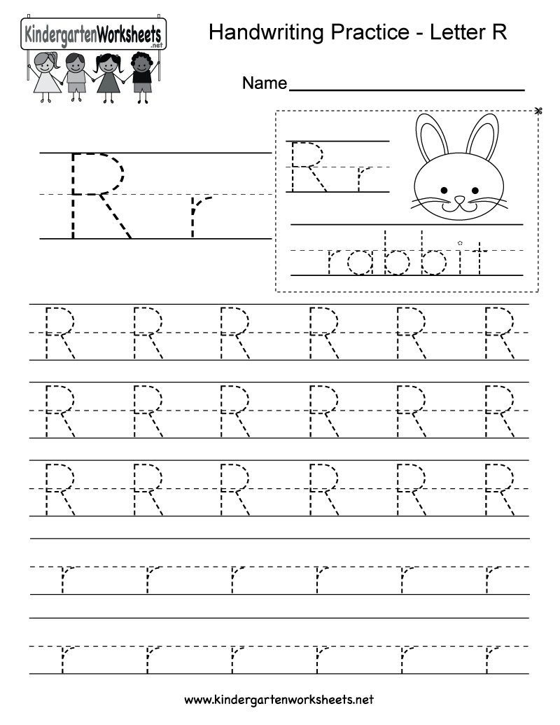 Letter R Writing Practice Worksheet - Free Kindergarten English - Free Printable Preschool Worksheets For The Letter R