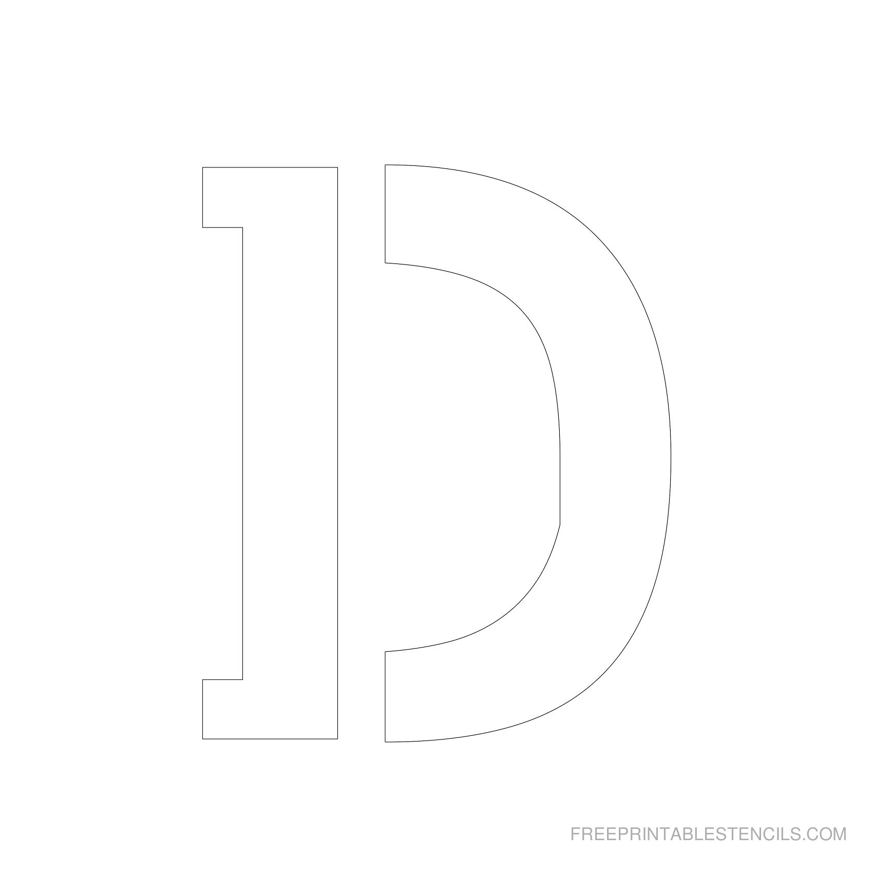 Letter Stencils To Print | Free Printable Stencils - Free Printable Letter Stencils