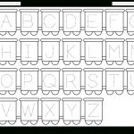 Letter Tracing Worksheet – Train Theme / Free Printable Worksheets   Free Printable Alphabet Pages
