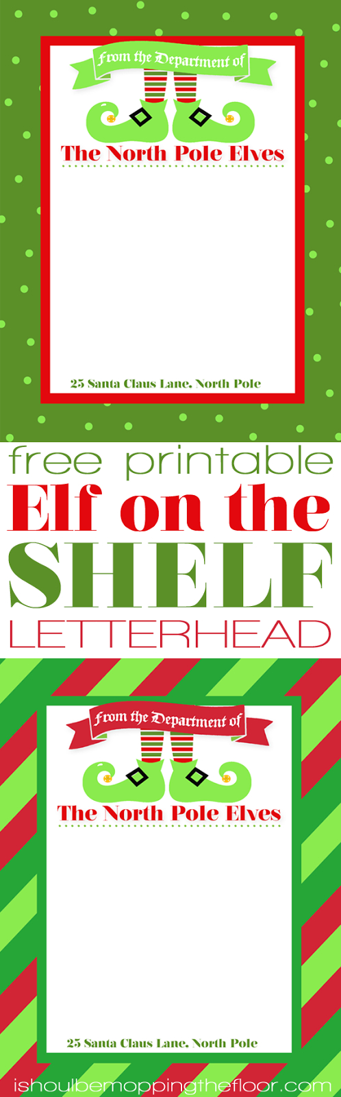 Letterhead From The North Pole. Free Printable Elf On The Shelf - Free Printable Elf Stationery
