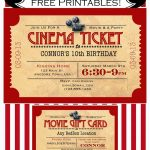 Like Mom And Apple Pie: A Summer Of Movies! Free Printables! Free   Movie Birthday Party Invitations Free Printable