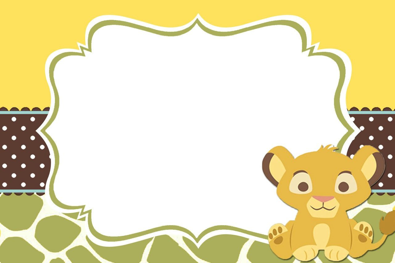 Lion King Baby Shower Table Decorating Kit Clipart | Summer - Free Printable Lion King Baby Shower Invitations