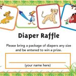 Lion King Printable Diaper Raffle Ticket | Baby Shower | Pinterest   Free Printable Lion King Baby Shower Invitations