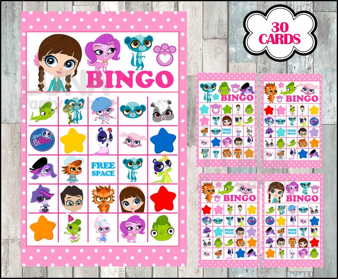 Littlest Pet Shop Bingo 30 Cards Instant Download Printable | Etsy - Littlest Pet Shop Invitations Printable Free