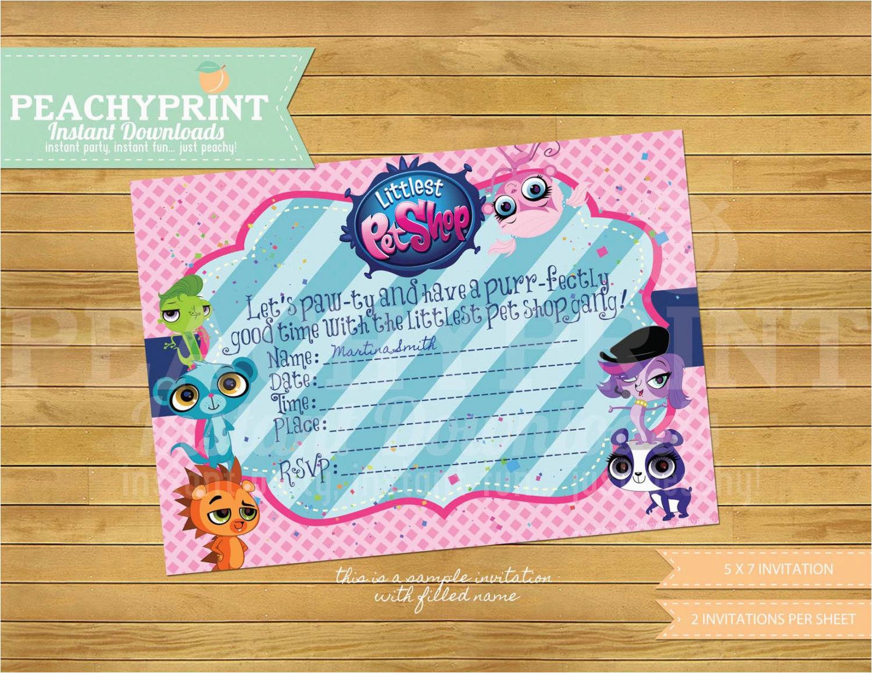 Littlest Pet Shop Birthday Invitations | Birthdaybuzz - Littlest Pet Shop Invitations Printable Free