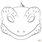 Lizard Mask Coloring Page | Free Printable Coloring Pages   Free Printable Lizard Mask