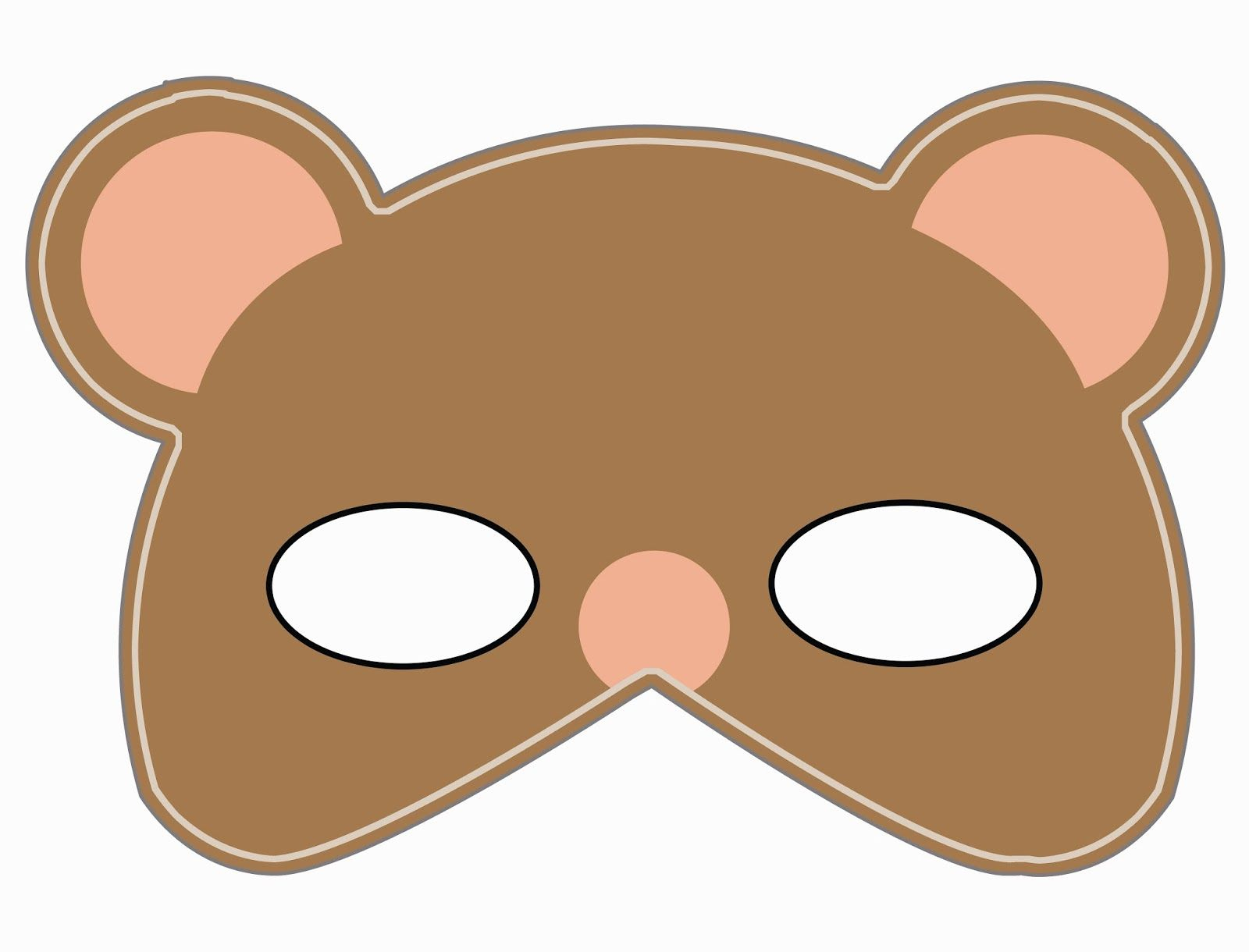 Lomy Design: Teddy Bear Mask | Teddy Bear Birthday | Pinterest - Free Printable Bear Mask