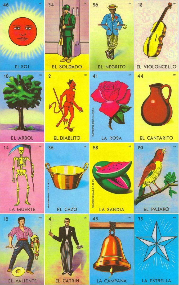 Loteria Mexicana Tradicional | Printable | Mexican Art, Mexico Art - Free Printable Loteria Cards