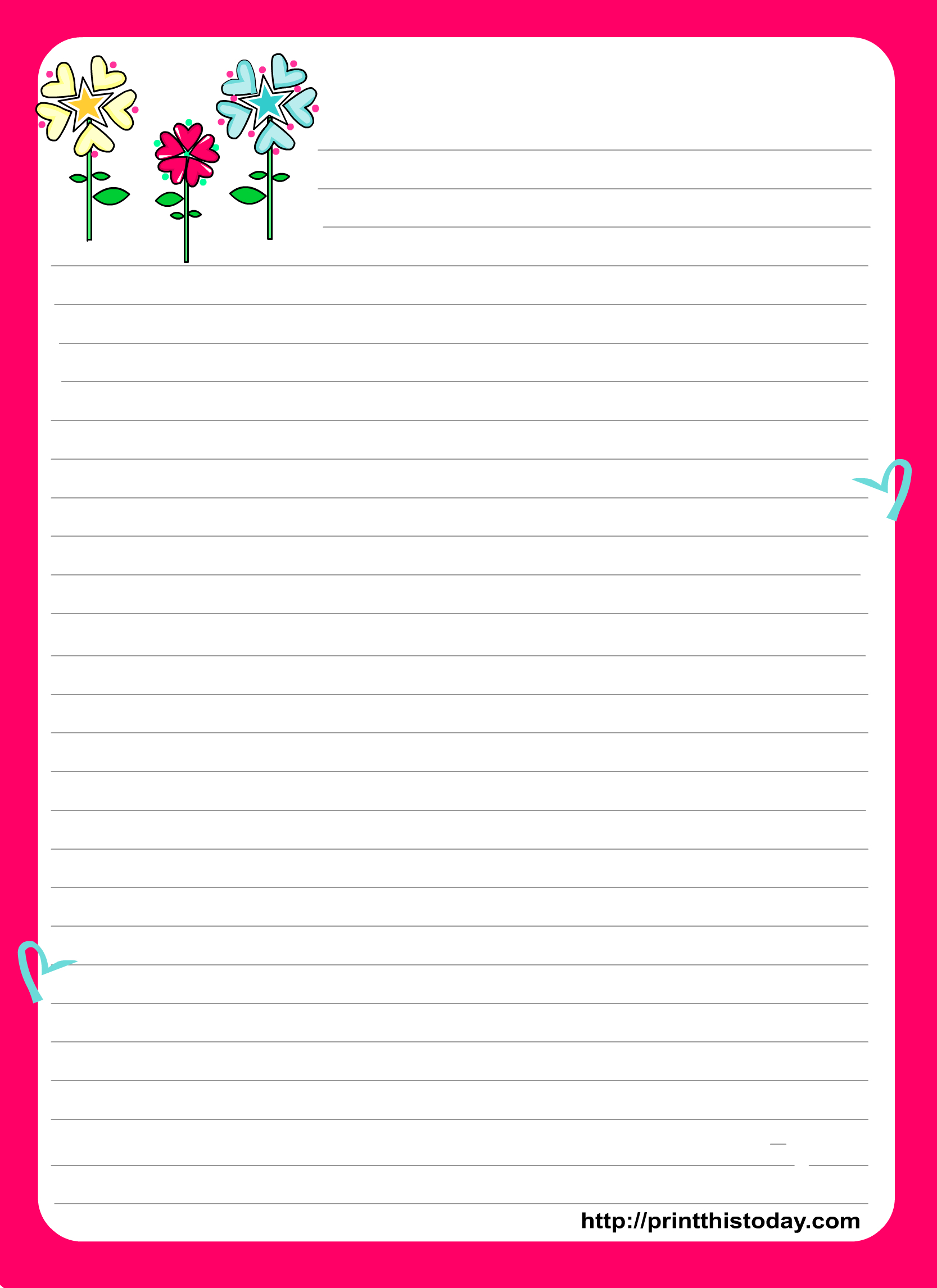 Love Letter Pad Stationery - Free Printable Love Letter Paper