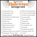 Love This Free Printable Halloween Scavenger Hunt From Www   Free Printable Halloween Scavenger Hunt