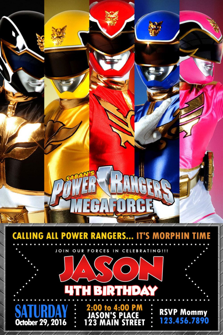 Luxury Free Printable Power Ranger Birthday Invitations - Free Printable Power Ranger Birthday Invitations