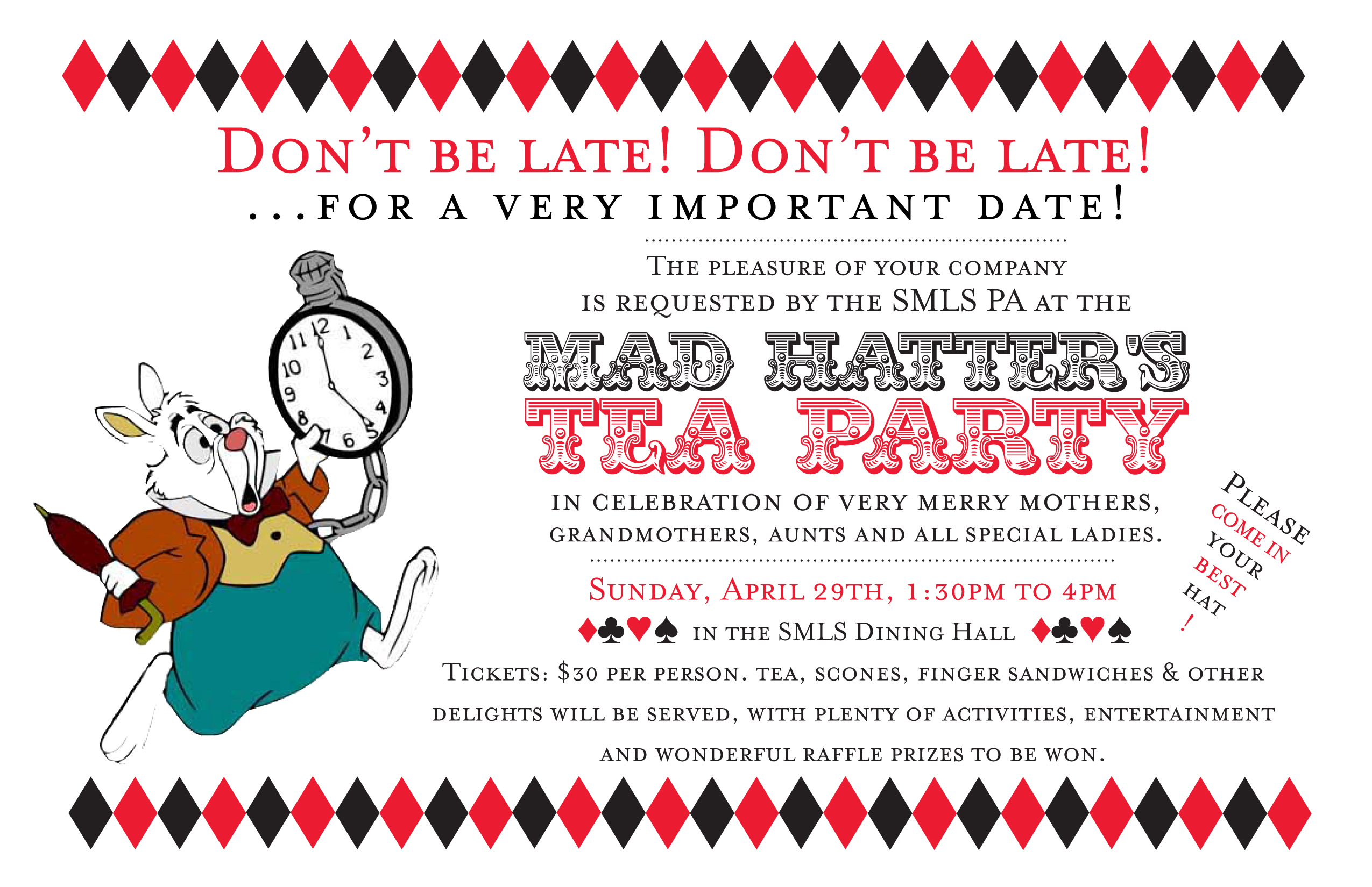 Mad Hatter Tea Party Invitations And Comely Invitations Fitting - Mad Hatter Tea Party Invitations Free Printable