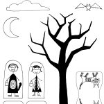 Madejoel » Madejoel Trick Or Treat Paper City Scene Printout   Free Printable Halloween Paper Crafts