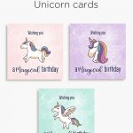 Magical Unicorn Birthday Printable Cards | Tis' Better To Give   Free Printable Greeting Card Sentiments