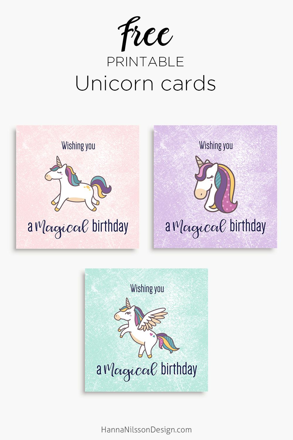 Magical Unicorn Birthday Printable Cards | Tis' Better To Give - Free Printable Greeting Card Sentiments