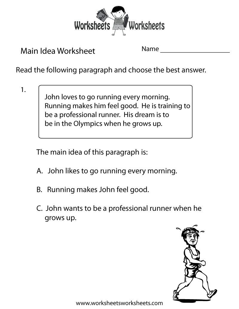 Main Idea And Supporting Details Worksheets | Read & Write - Free Printable Main Idea Worksheets