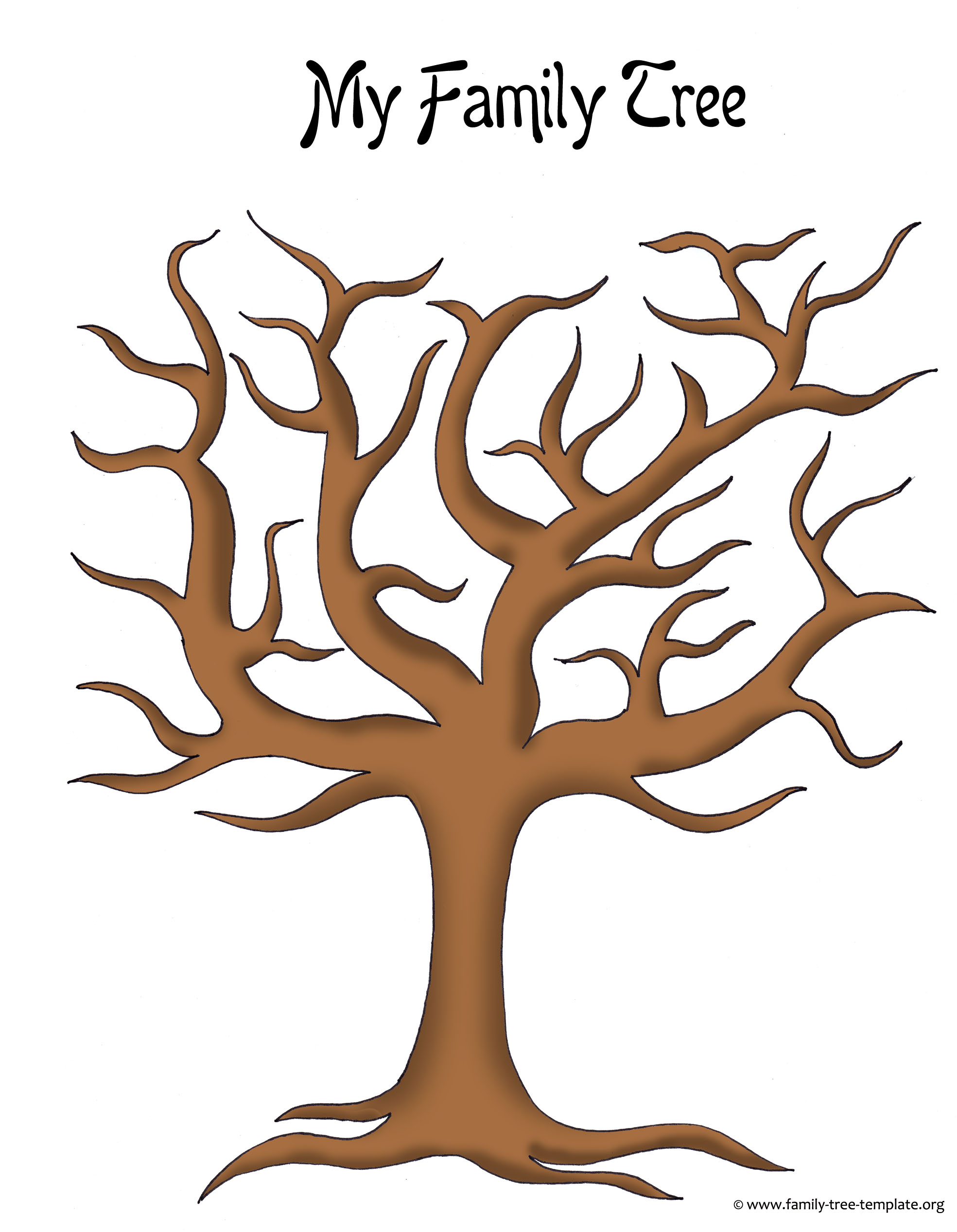Make A Family Tree Easily With These Free Ancestry Charts - Free Printable Tree Template