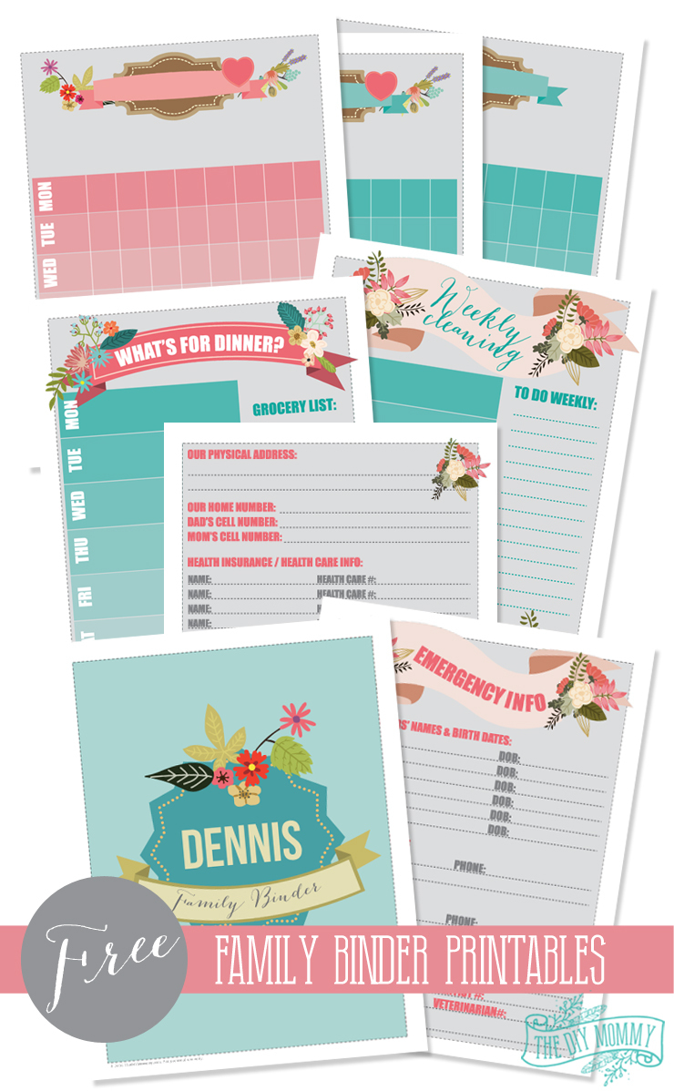 Make A Household Organization Binder (With Free Floral Family Binder - Free Printable Household Binder