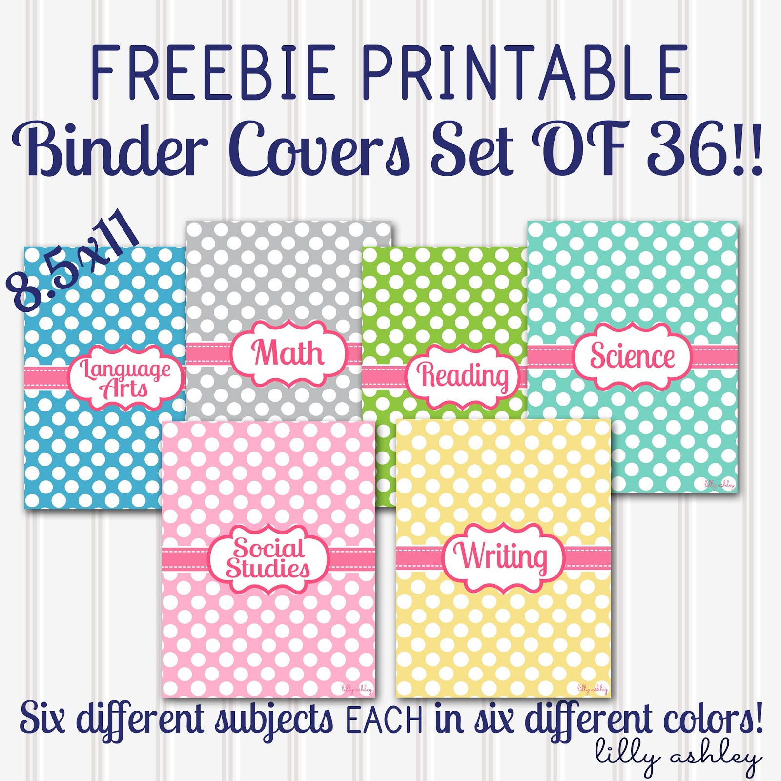 Make It Createlillyashleyfreebie Downloads: Back To School - Free Printable Binder Covers And Spines