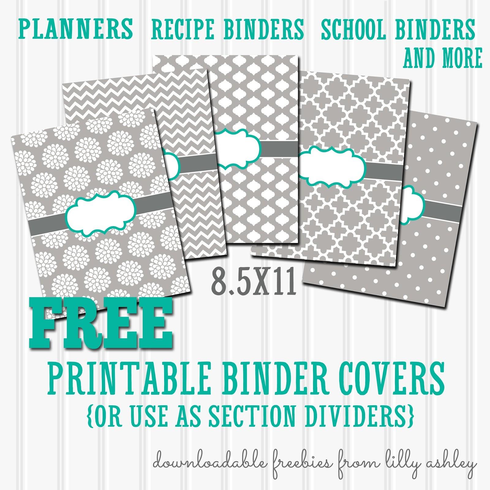 Make It Createlillyashleyfreebie Downloads: Free Binder - Free Printable Binder Covers And Spines