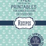 Make It Createlillyashleyfreebie Downloads: Free Printables   Free Printable Recipe Dividers