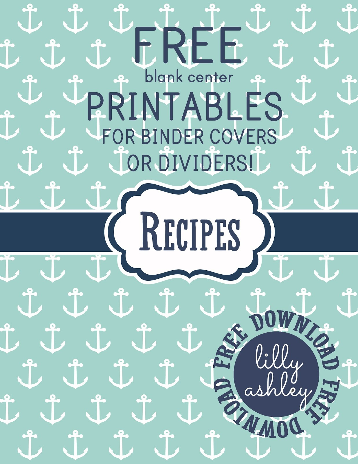 Make It Createlillyashleyfreebie Downloads: Free Printables - Free Printable Recipe Dividers