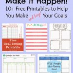 Make It Happen: 10 Free Printables To Help You Meet Your Goals   Free Printable Home Organizer Notebook