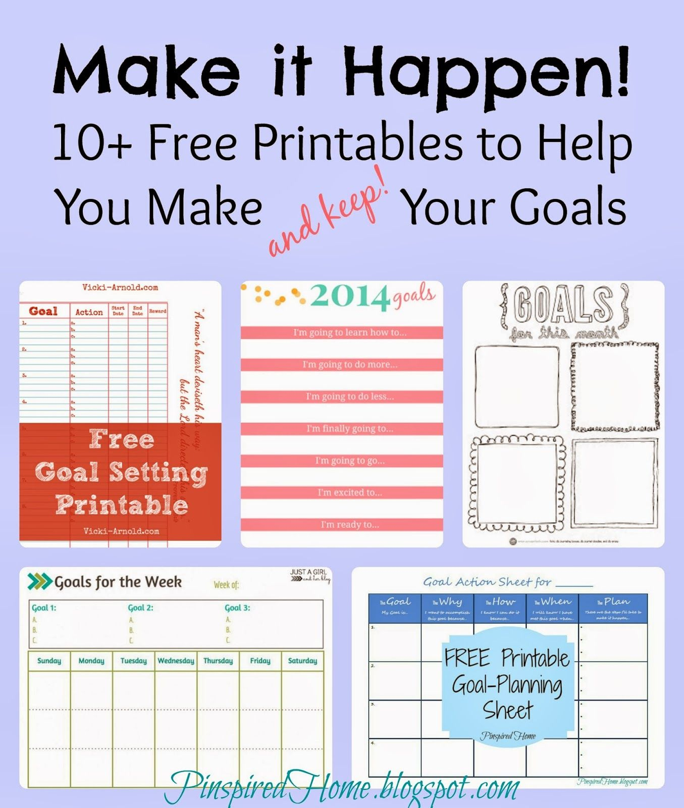 Make It Happen: 10 Free Printables To Help You Meet Your Goals - Free Printable Home Organizer Notebook