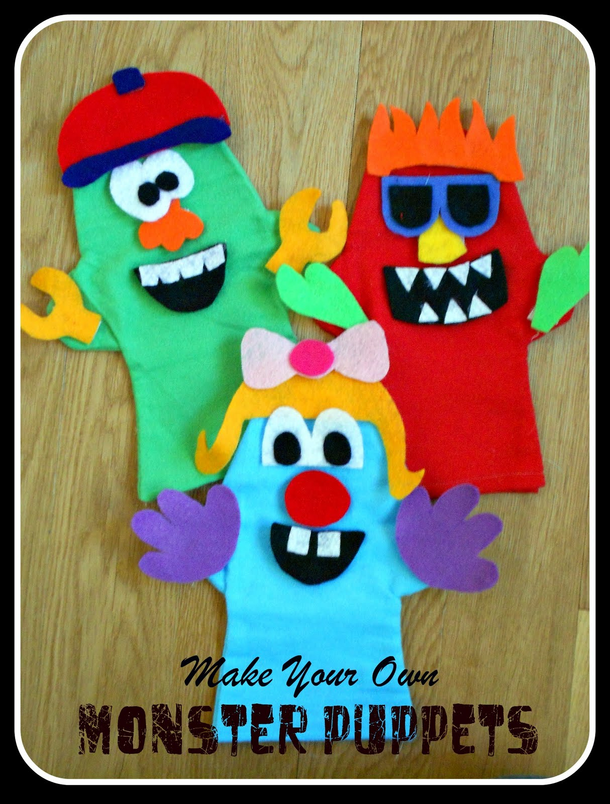 Make Your Own Monster Puppets Printable Pattern | Six Sisters' Stuff - Free Printable Monster Templates