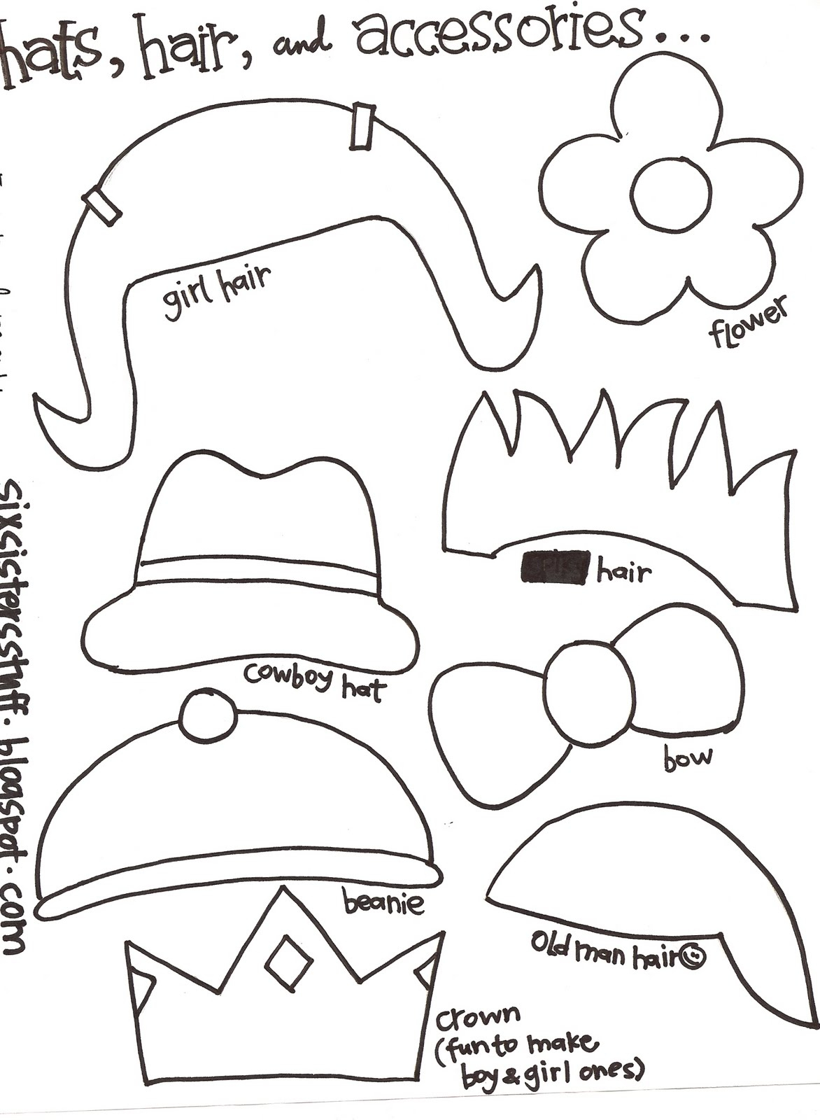 Make Your Own Monster Puppets Printable Pattern   Six Sisters' Stuff - Free Printable Paper Bag Puppet Templates