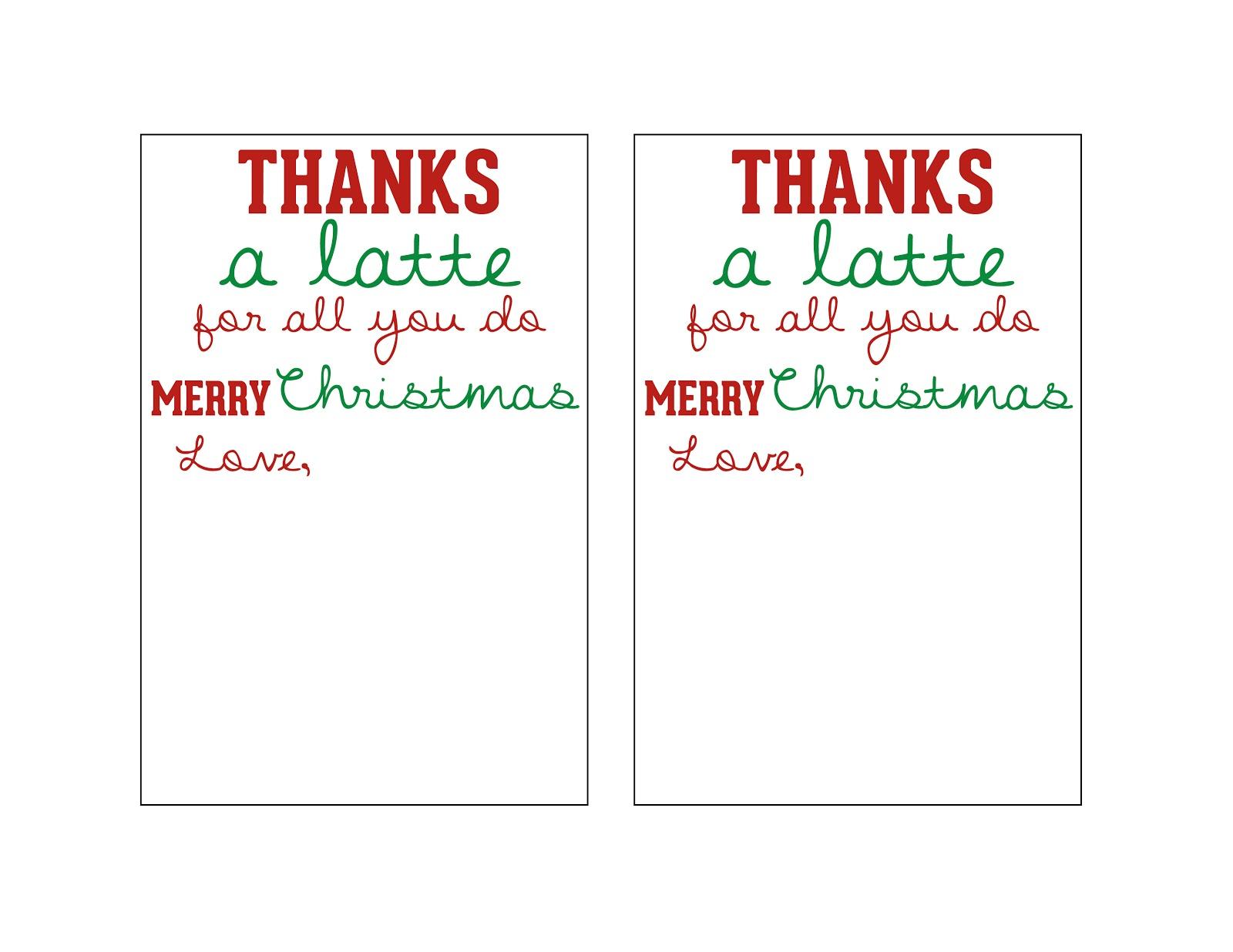 Mandie Starkey: Thanks A Latte | Diy Teacher Christmas Gift - Thanks A Latte Free Printable