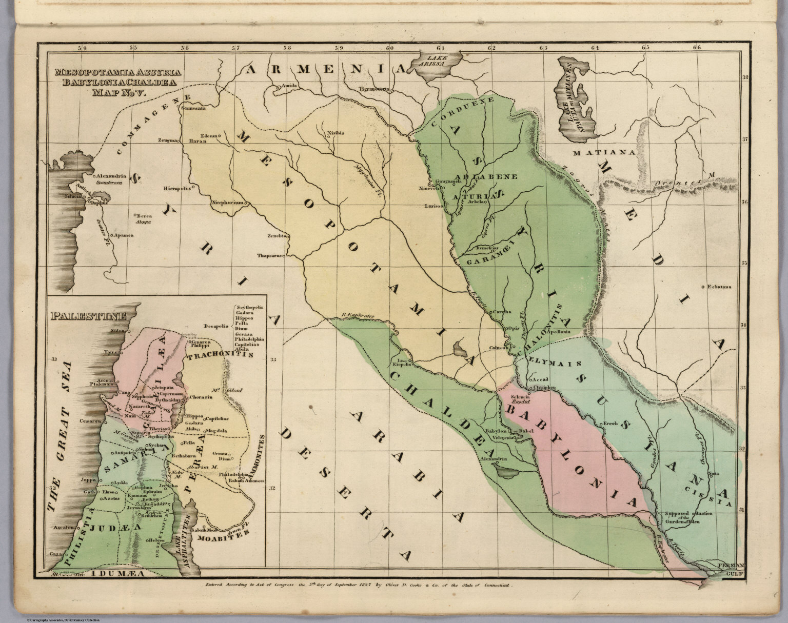 Map No. V. Mesopotamia Assyria, Babylonia Chaldea - David Rumsey - Free Printable Map Of Mesopotamia