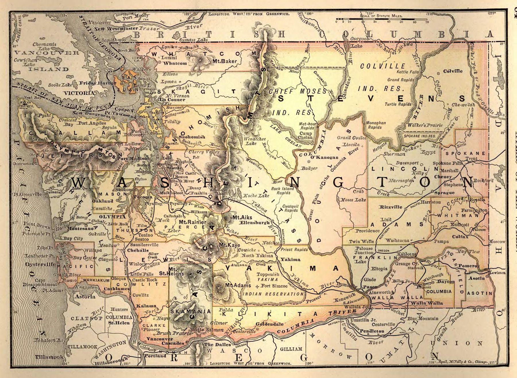 Map Of California Oregon And Washington Printable Map Washington - Free Printable Map Of Washington State