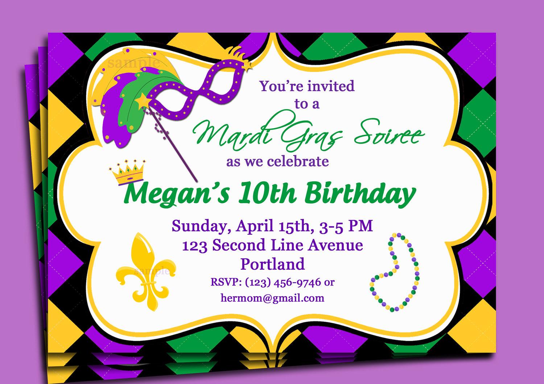 Mardi Gras Party Invitations Mardi Gras Party Invitations And Your - Free Printable Mardi Gras Invitations