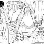 Marisole Monday: A Princess In Black And White | Color Your Own   Printable Paper Dolls To Color Free