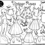 Marisole Monday: Vintage Roses | Coloring! | Paper Dolls, Paper   Printable Paper Dolls To Color Free