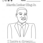 Martin Luther King Jr Coloring Pages | Martin Luther King Coloring   Free Printable Martin Luther King Jr Worksheets For Kindergarten