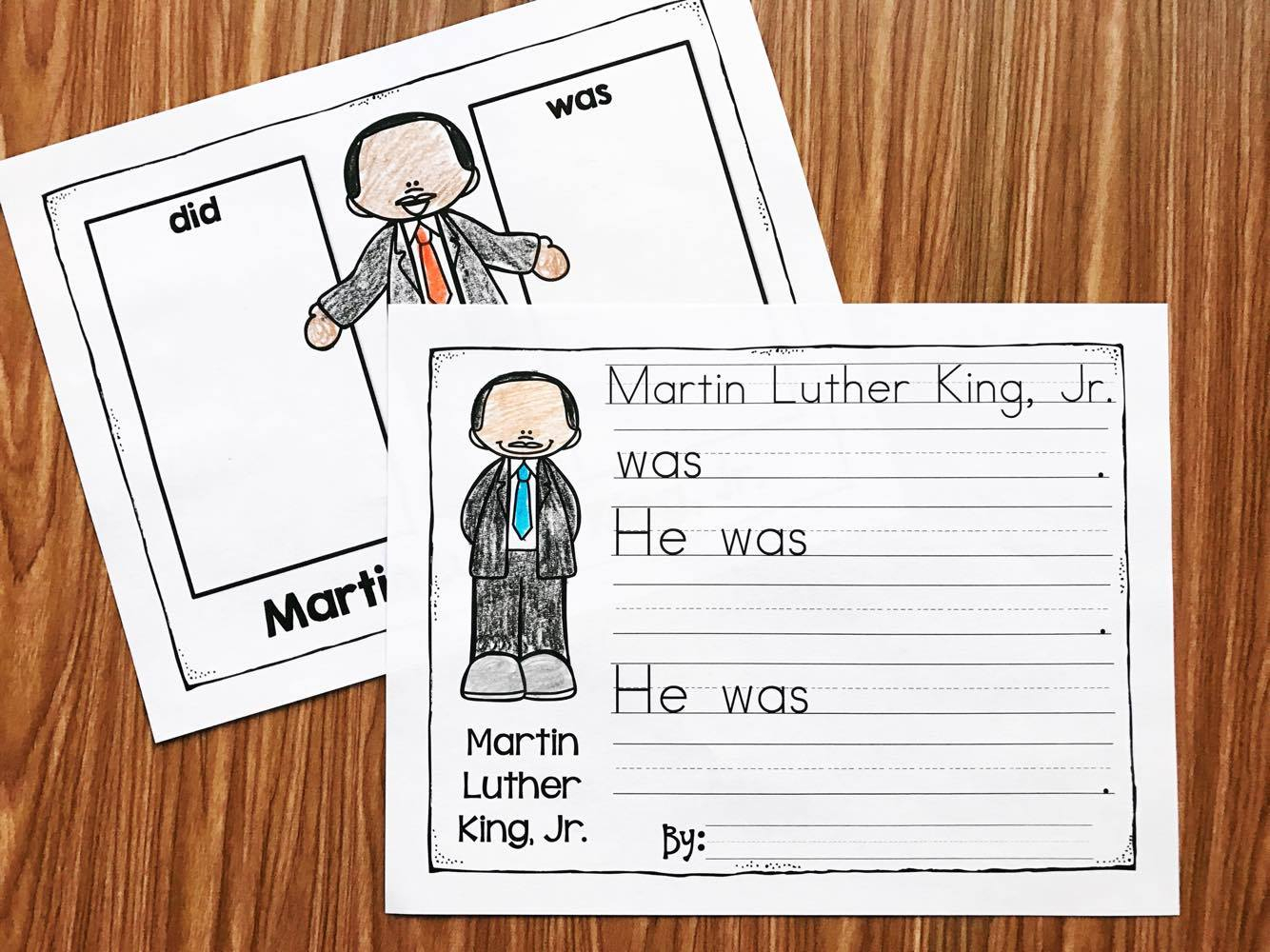 Martin Luther King Kindergarten Printables - Simply Kinder - Free Printable Martin Luther King Jr Worksheets For Kindergarten
