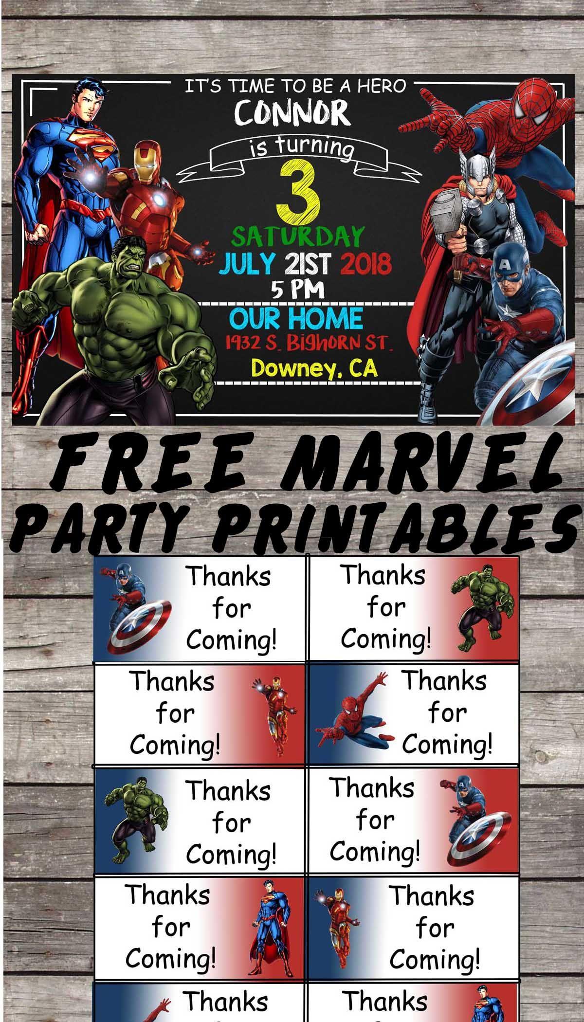 Marvel   Avengers   Birthday Party Printable Files   Invitations - Free Printable Avengers Birthday Party Invitations